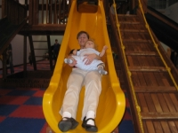 Linus on the big slide