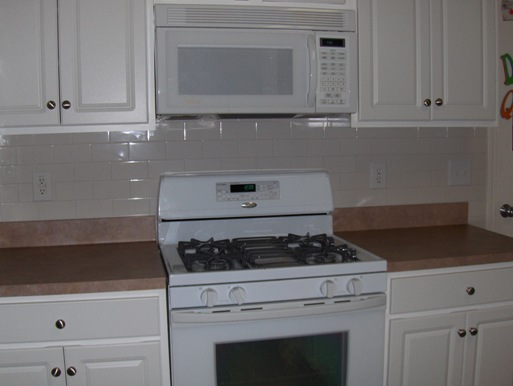 Tile Backsplash Stove