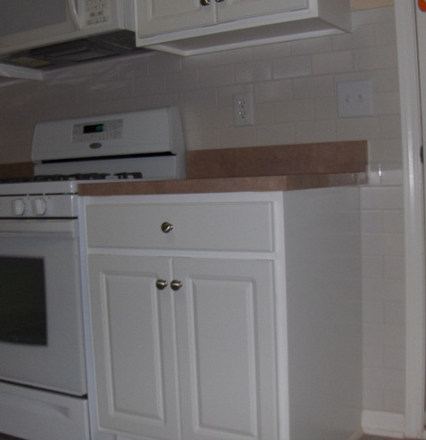 Tile Backsplash Door