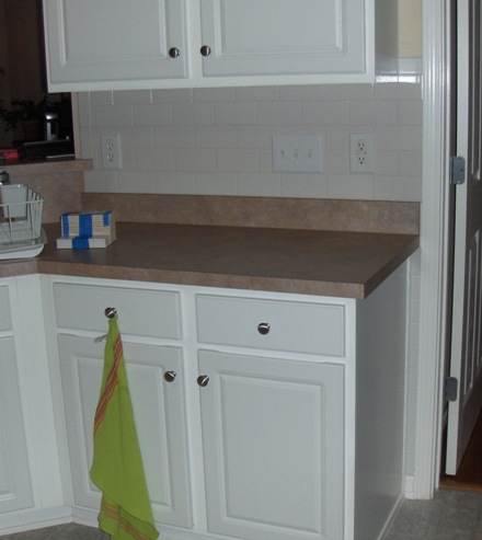 Tile Backsplash Sink