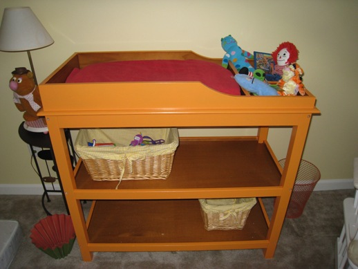 Painted Changing Table