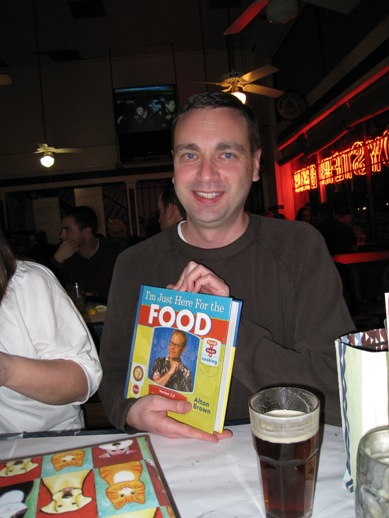 Dave with Alton Brown book