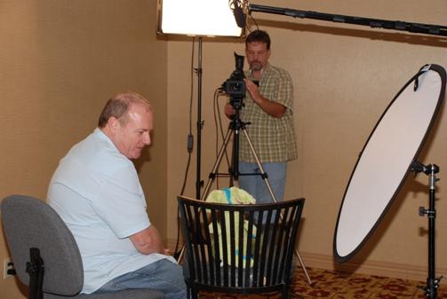 Getting interviewed