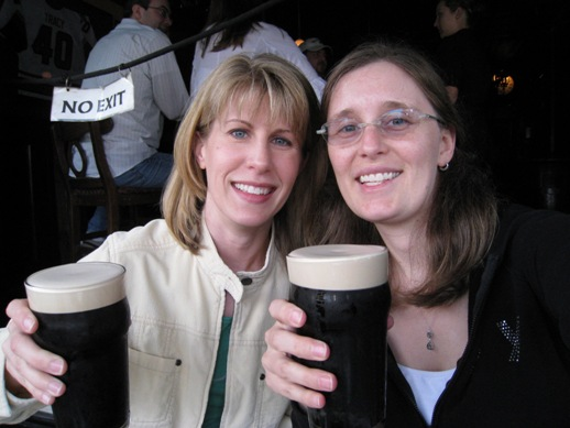 Monica and me drinking Guiness