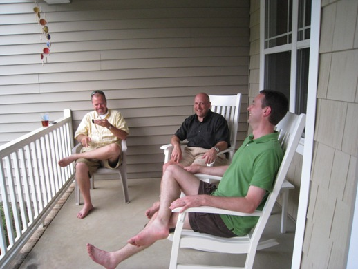 Guys on front porch