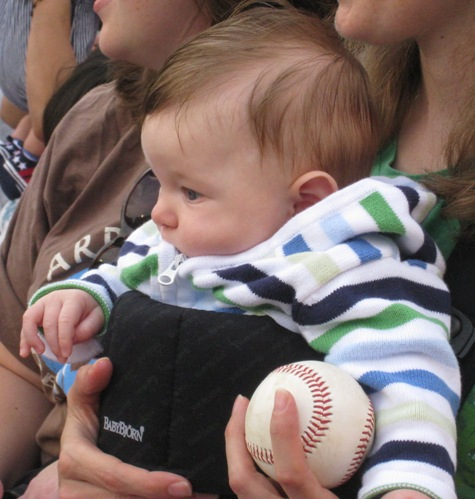 Henry with his baseball