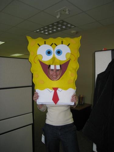 Dressed as SpongeBob