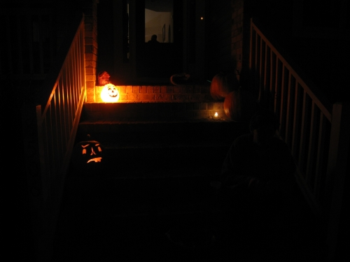 Our spooky front porch