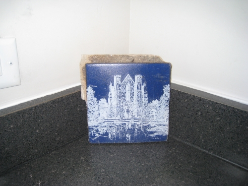 Etched Ford tile