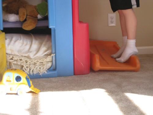 Carson's legs