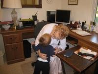 Linus kisses Granma
