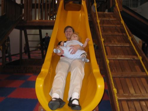 Linus on the big slide