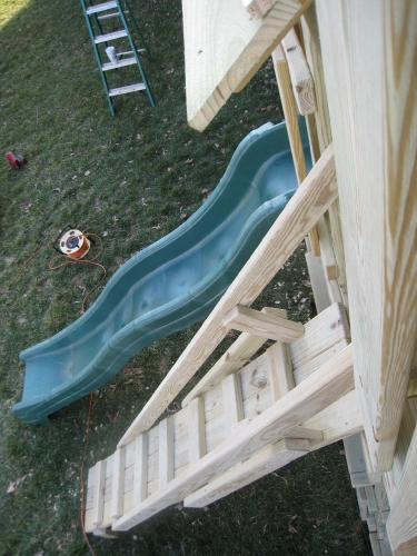 View of Slide and Gangplank